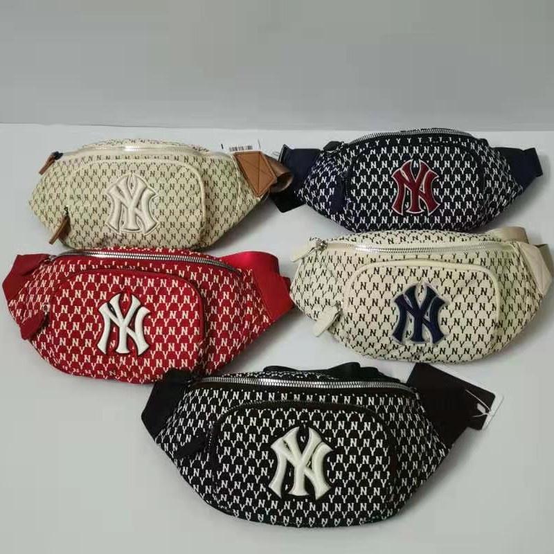 韓版時尚品牌 MLB 腰包紐約洋基隊全標準刺繡胸包戶外運動斜挎包