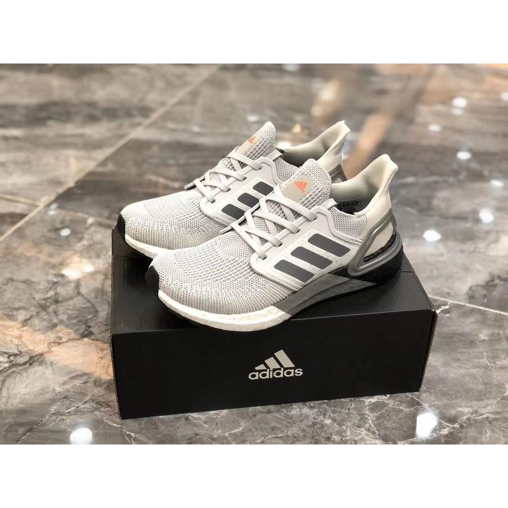 全新Adidas UltraBoost 20 銀白灰 慢跑鞋 運動鞋  EG0755