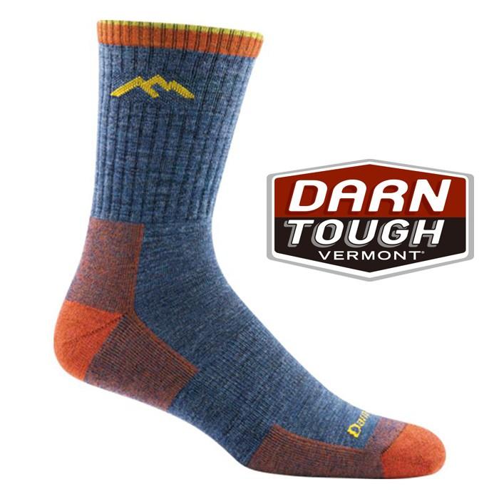 【Darn Tough 美國】羊毛中筒健行襪 美麗諾羊毛襪 運動襪 登山襪 戶外襪 男款 單寧藍 (1466)