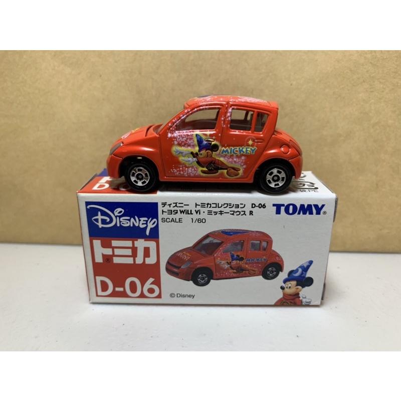 [現貨]Tomica Tomy 舊藍標 迪士尼 Disney D-06 魔法米奇 紅色
