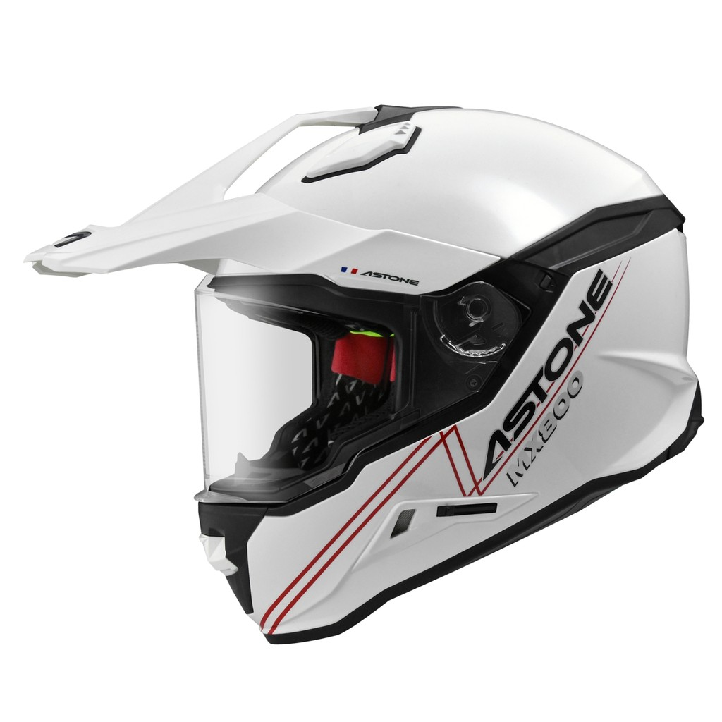 【ASTONE】MX800 BF5 素色 (白) 全罩式安全帽 多功能 快拆式帽舌