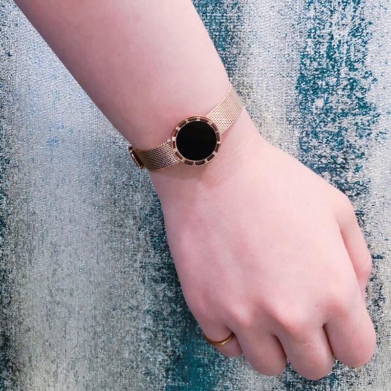 #18K玫瑰金#韓版時尚個性手鍊~羅馬錶鍊