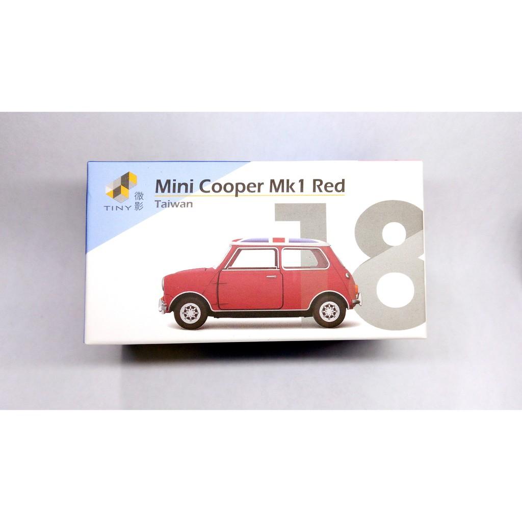 微影 TINY 台灣款 018 Mini Cooper Mk1 Red 英國旗(紅色) 1/64
