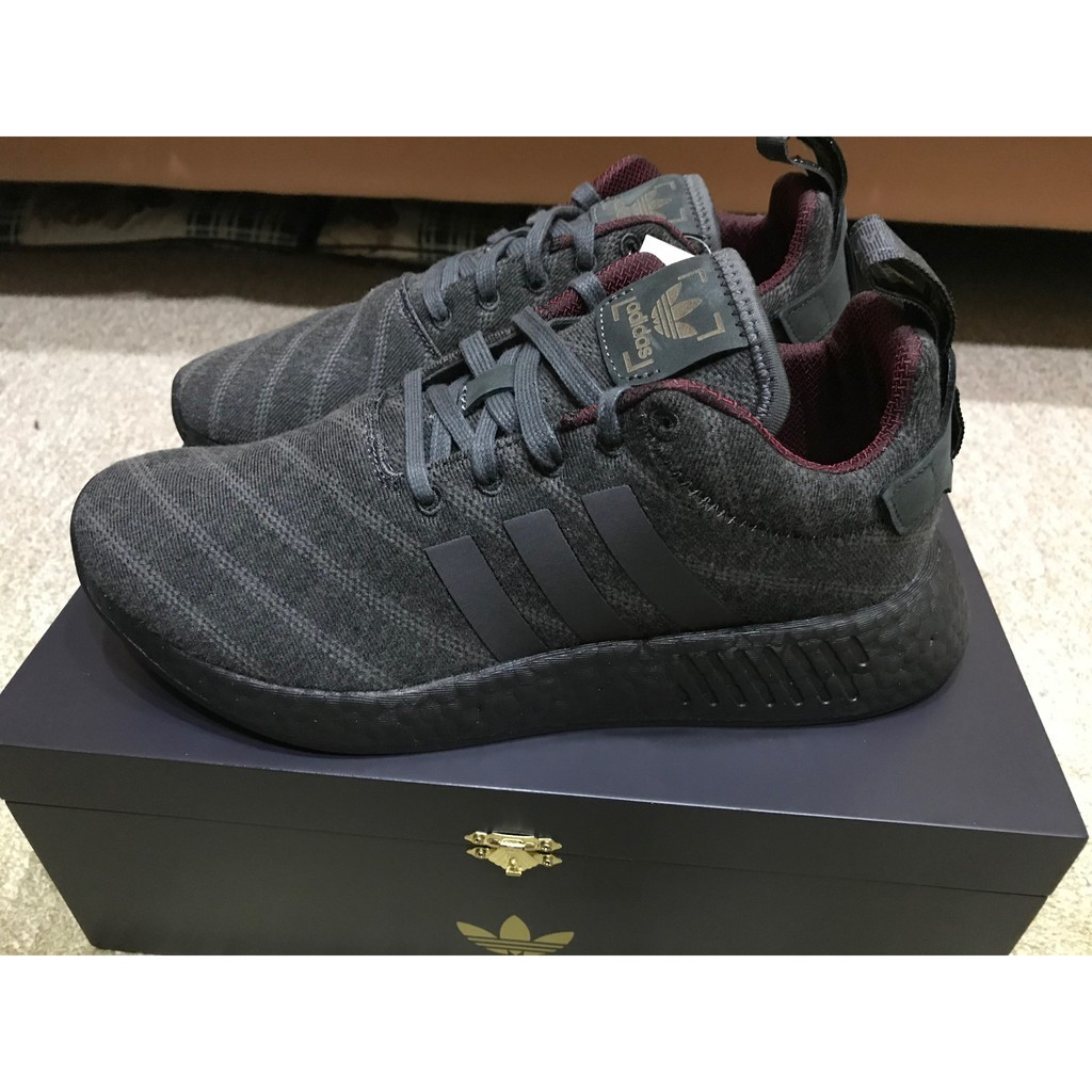 finest selection 91feb bb5ac Adidas NMD R2 Size? X Henry Poole 黑 聯名 英國公司貨 CQ2015