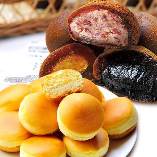 【大溪杏芳食品】原味乳酪球一盒32入+沖繩黑糖手工綜合麻糬各一盒8入(含運)