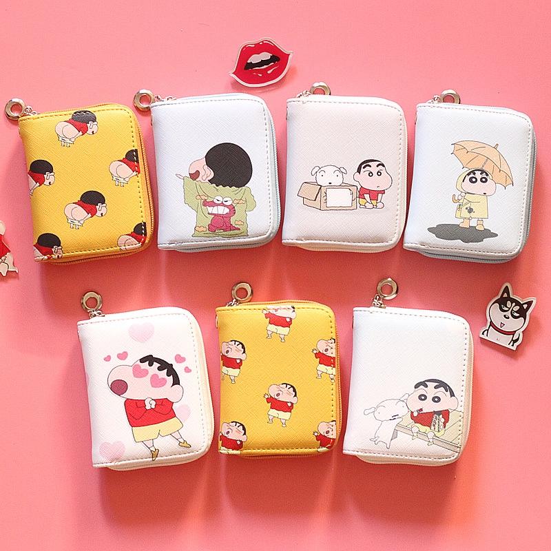 SHH韓版可愛零錢包簡約學生短款拉鍊錢包錢夾卡包