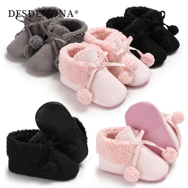 母嬰 冬季新款童鞋嬰幼鞋寶寶鞋0-1歲保暖雪地靴軟底鞋嬰兒學步鞋布底室內鞋寶寶鞋母婴