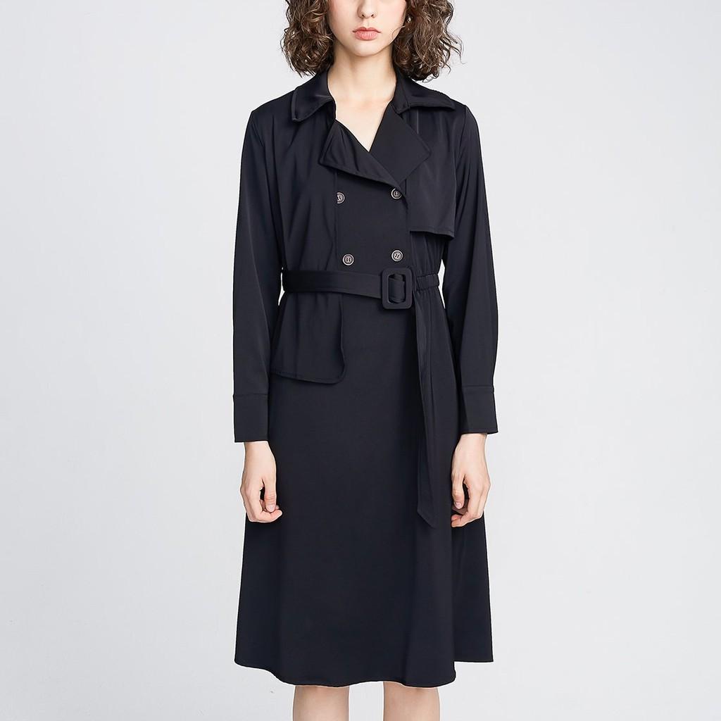 Black Trench Coat 黑色風衣洋裝