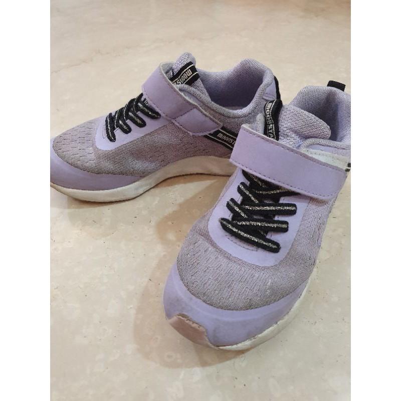 月星 Moonstar 童鞋 日本品牌 紫色 二手 19.5 小孩長大穿不下所以賣出