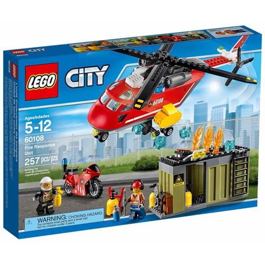[玩樂高手附發票]公司貨 樂高 LEGO 60108 消防應急套裝