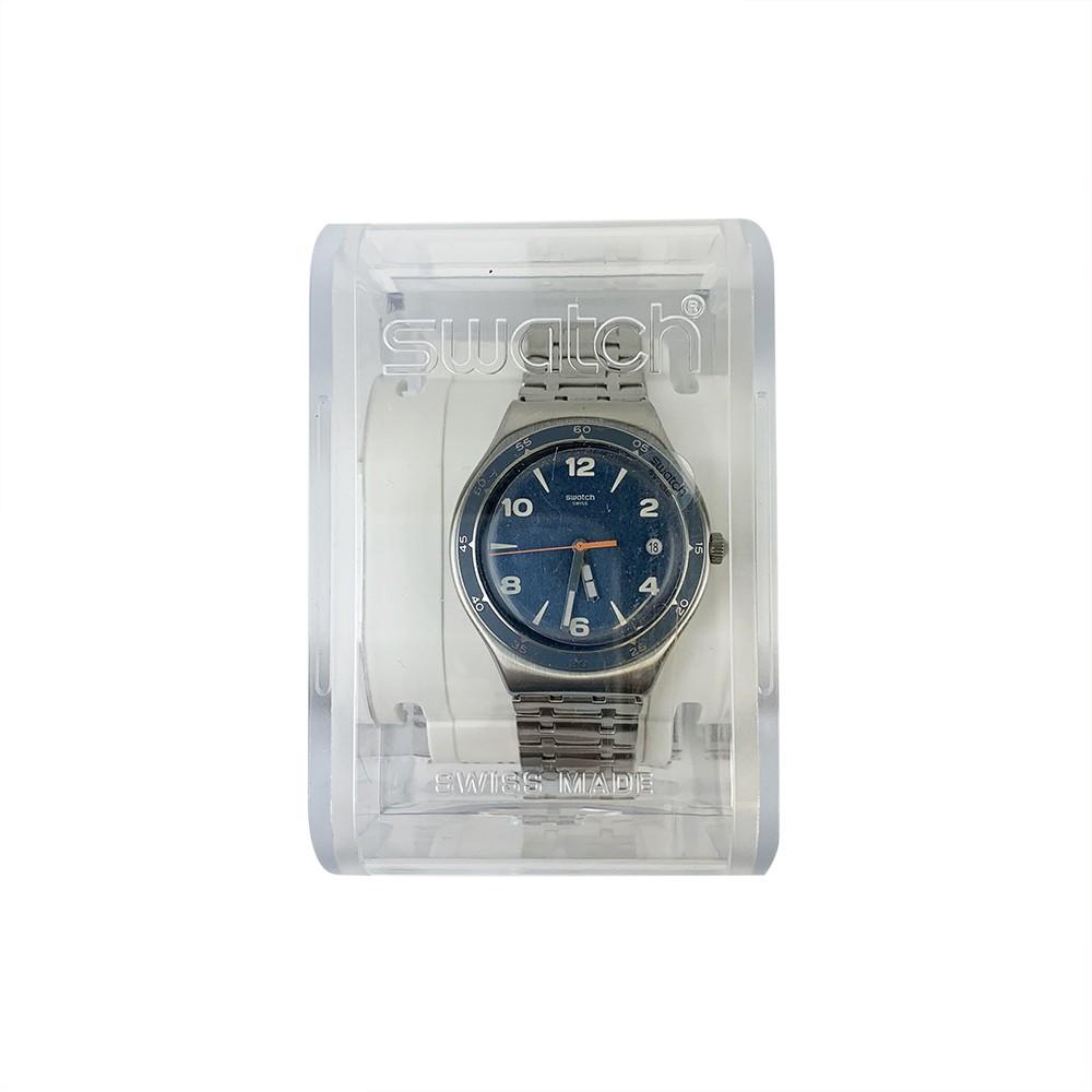 Swatch ENRIK 日期 夜光 腕錶 手錶 灰 YGS479G