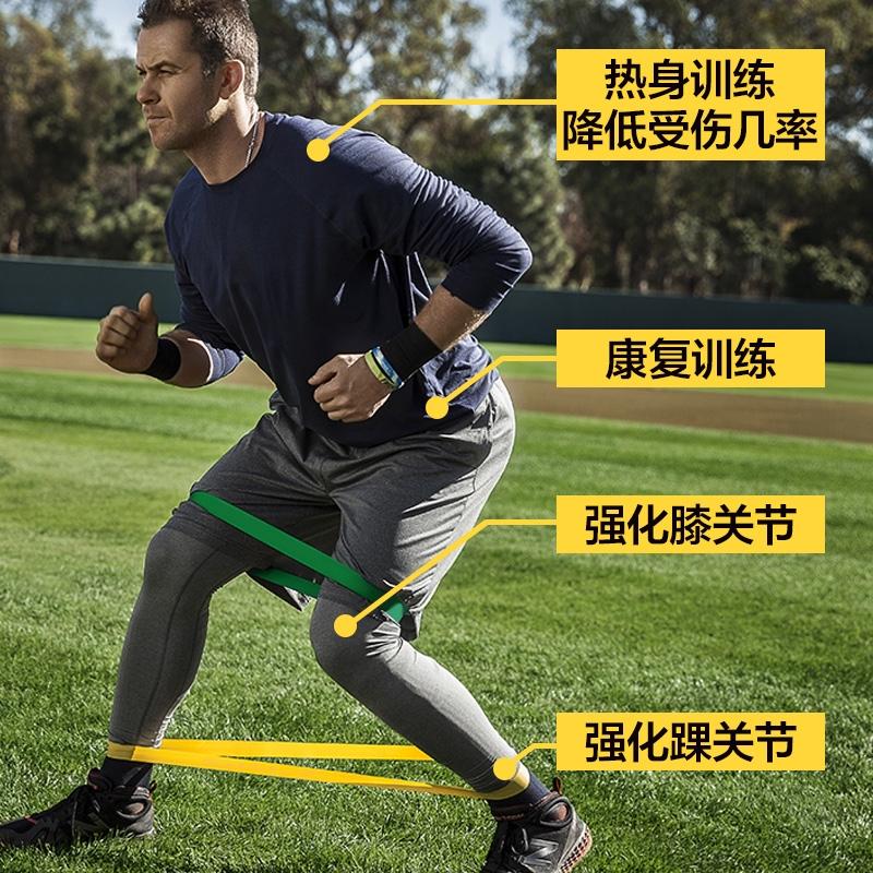 籃球力量訓練阻力帶 健身腿部拉力環彈力圈橡皮筋拉筋康復家用男阻力帶