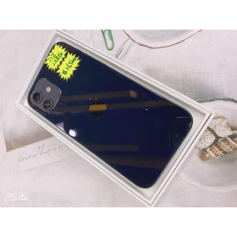 I12 128G 黑色  二手機 外觀如圖 後玻璃有裂 不影響功能 原廠保固2021/10/31 台北實體店面可自取