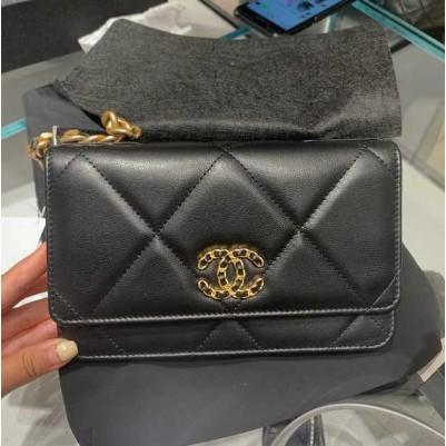 Chanel 19 WOC AP0957 皮夾 單肩手提包 大菱格 現貨