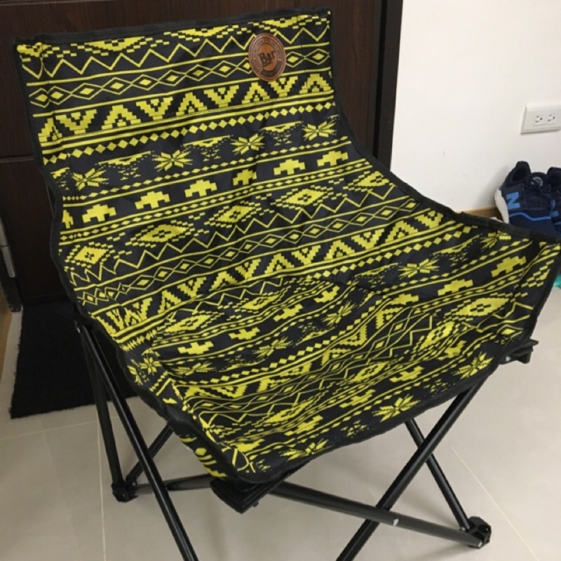 限定BAR啤酒 圖騰風格露營椅 摺疊椅