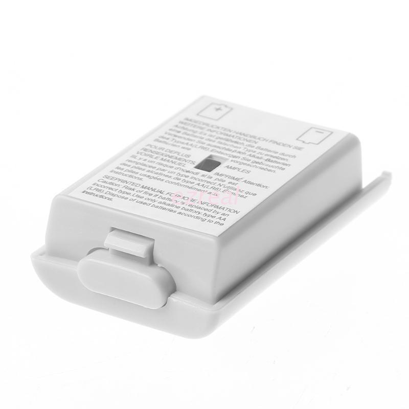 Ez 1PC AA 電池後蓋殼外殼包白色, 用於 Xbox 360 無線控制器