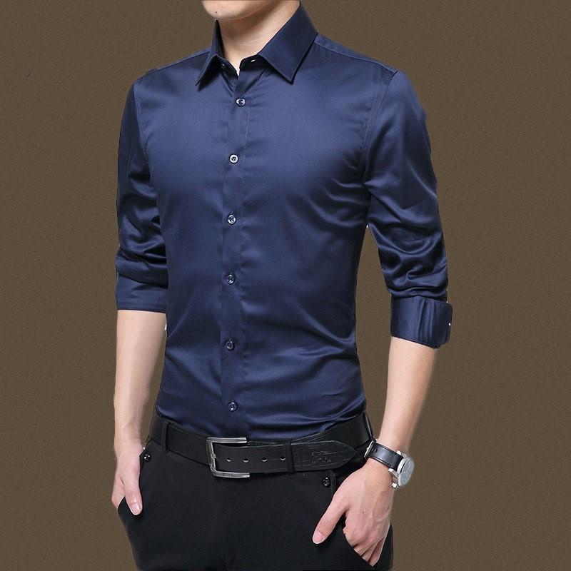 【JACK】男裝[現貨] 襯衫 男新款男士長袖襯衫正裝職業批發襯衣長袖 男白色修身男式襯衫 長袖襯衫1