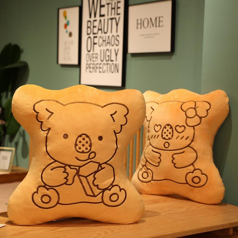 小熊餅乾抱枕 無尾熊 巧克力 娃娃 玩偶 趴睡枕 抱枕 側睡枕 床靠 靠枕 枕頭 午睡枕 睡覺抱枕 搞怪 交換禮物