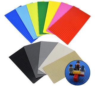 13色小顆粒積木底板 12.8X25.7cm 16X32 圓點單面底板 兼容樂高積木