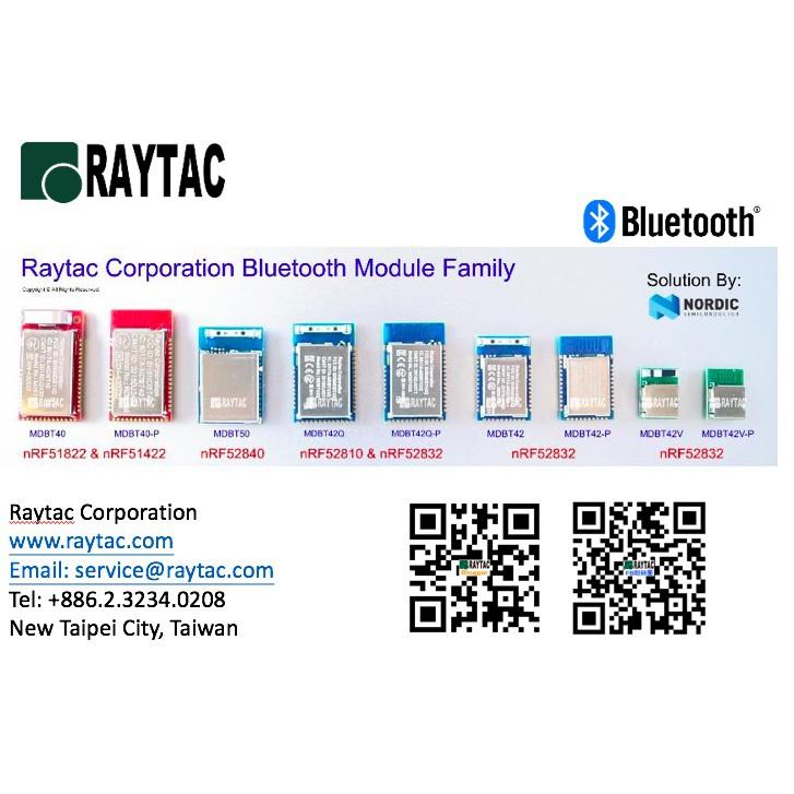 Raytac勁達Nordic nRF51822 32k低功耗藍牙模組Module模塊BT4 1