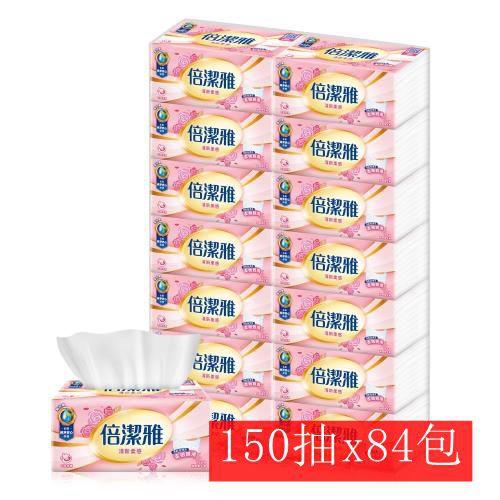 宅配免運【jp生活購】 倍潔雅 清新柔感抽取式衛生紙150抽x14包x6袋