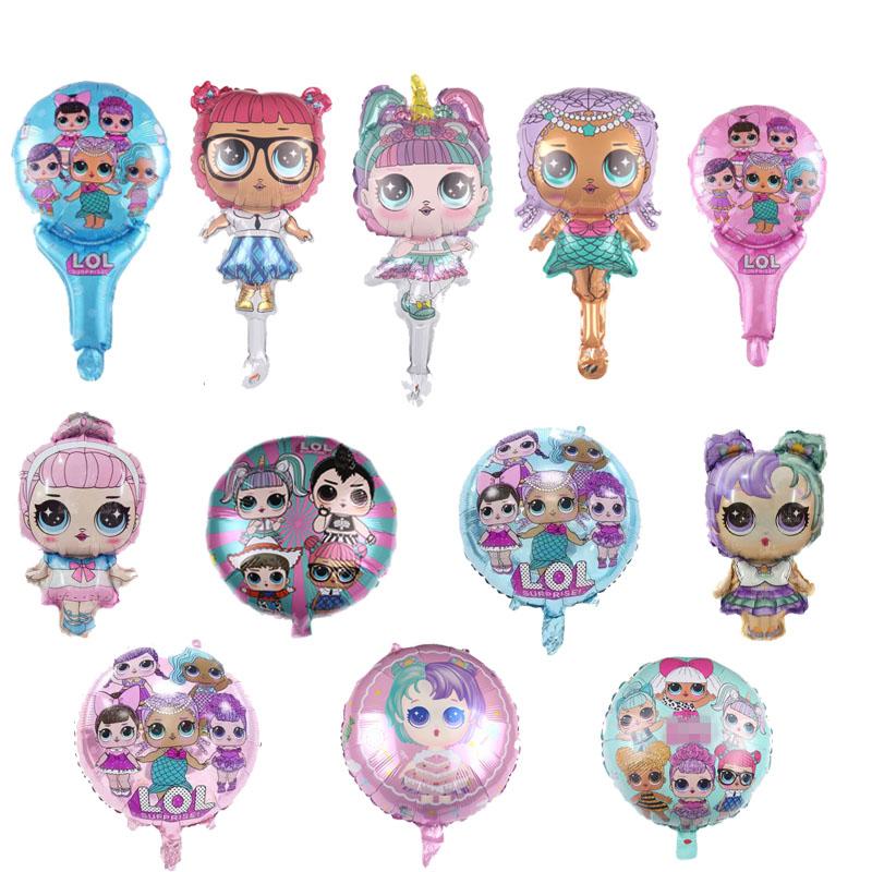 L.O.L. Surprise! 動漫 Lol Figure 氣球玩具派對房直流裝飾鋁箔氣球玩具孩子女孩 Lols 熱玩