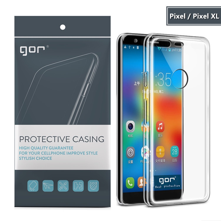 GOR適用谷歌Pixel5手機4a保護套 Google Pixel4XL透明TPU全包軟殼