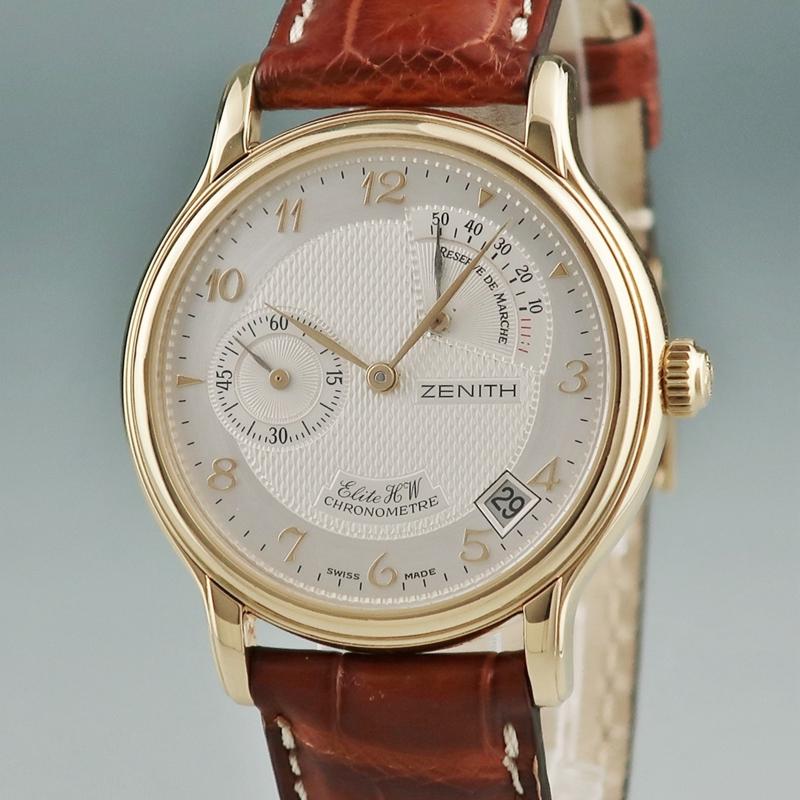 ◤奢侈手錶◢Zenith真力時18K黃金男錶手動機械30.0240.655二手錶瑞士原裝正品