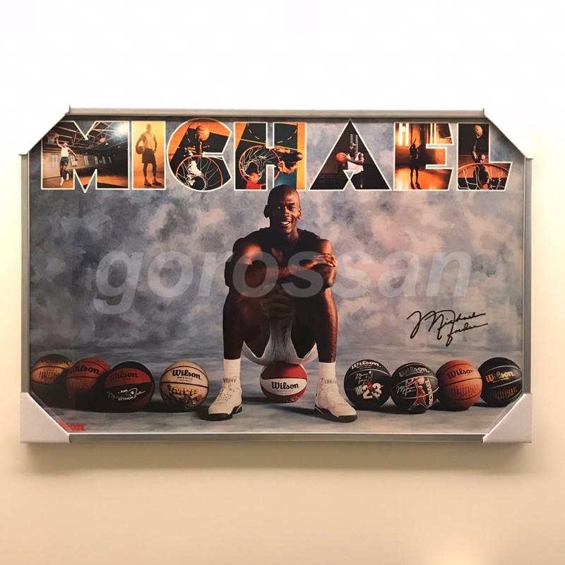 1990 麥可 喬丹 Michael Jordan Wilson 籃球 簽名 海報 威爾森 poster 喬登 飛人