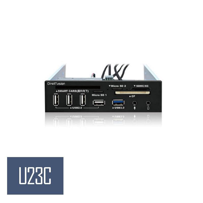 【伽利略】5.25吋多介面整合器 USB3.0讀卡機+2.0 ATM+HUB(U3H04A)