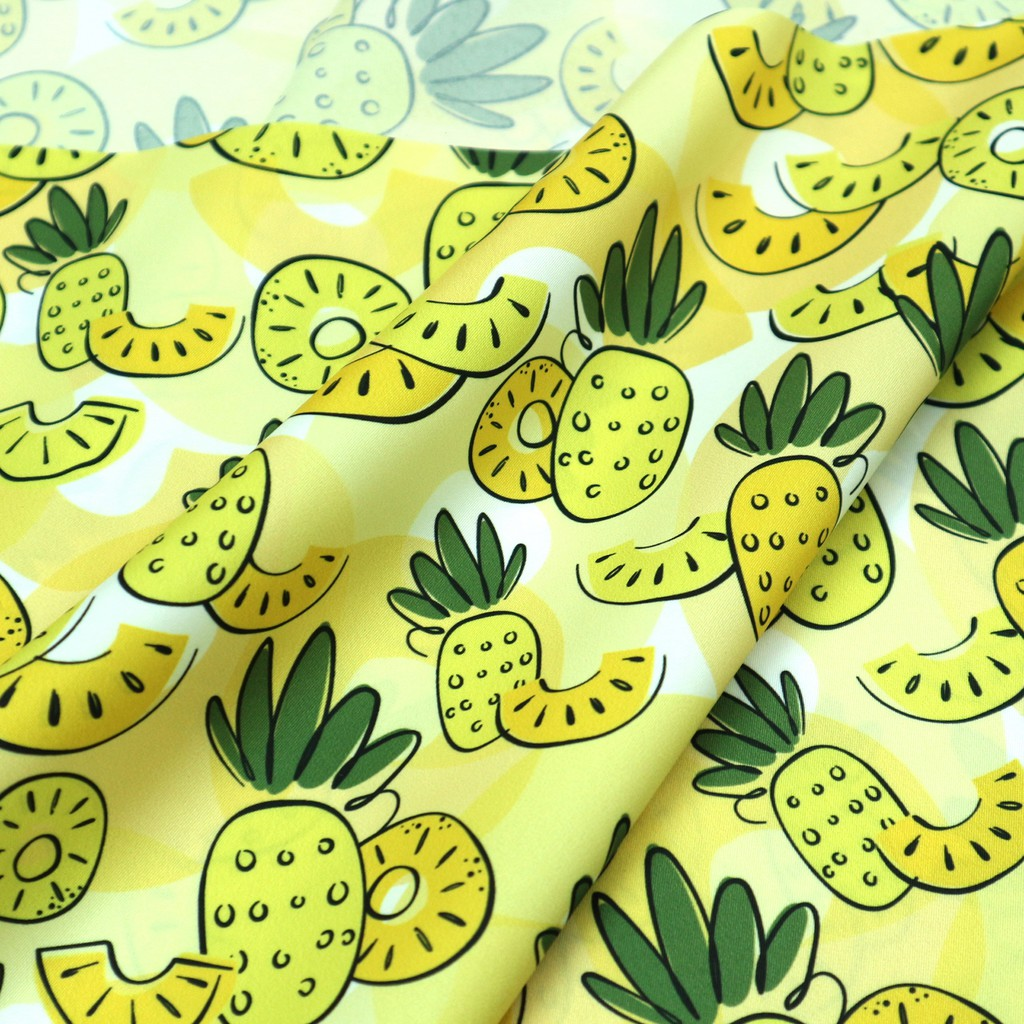 薄軟印花雨傘布 - Pineapple