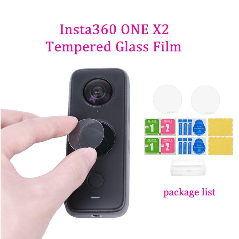 有現貨 Insta360 ONE X2 鋼化玻璃膜防刮花屏幕保護膜, 用於 Insta360 ONE X2 相機附件鏡頭