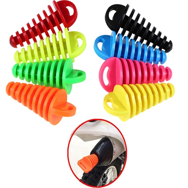 1pcs摩托車排氣管越野摩托車尾管PVC排氣塞消音器消音器沖洗塞管保護器