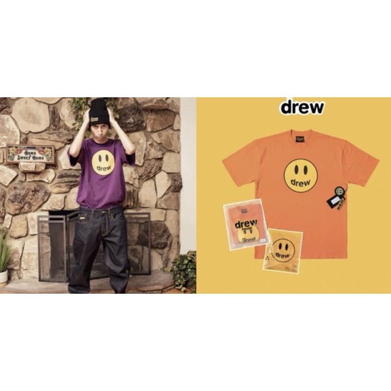美國🇺🇸代購drew house 新色 Justin Bieber 小賈斯汀 笑臉 潮流 街頭 短袖T恤 深藍 紫色