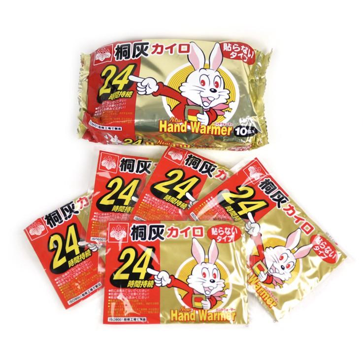 [現貨] 日本 小白兔 暖暖包 手握式 24hr 10入/包 暖包 手握 日本製 24小時 小林製藥