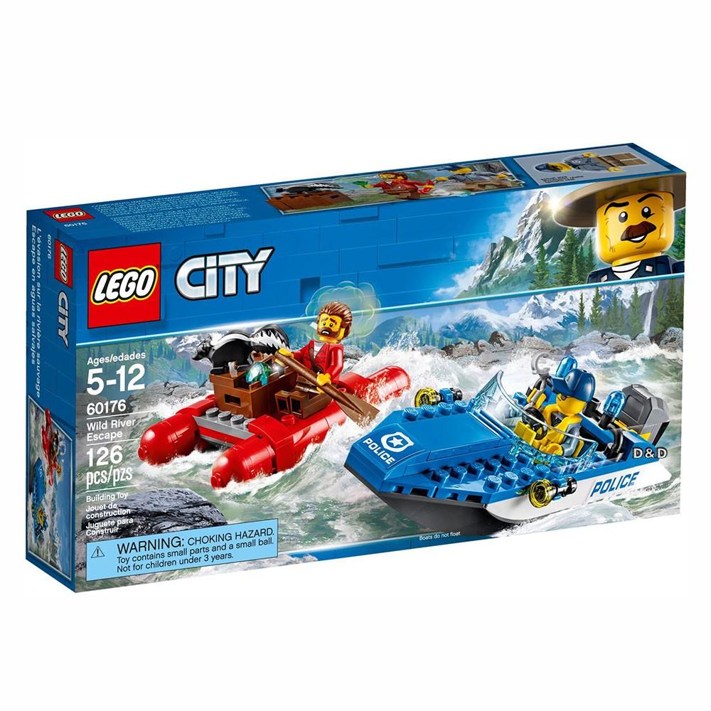 [晴朗家玩具館] LEGO 樂高(正版) - 城市系列 60176 急流大逃亡 (現貨)