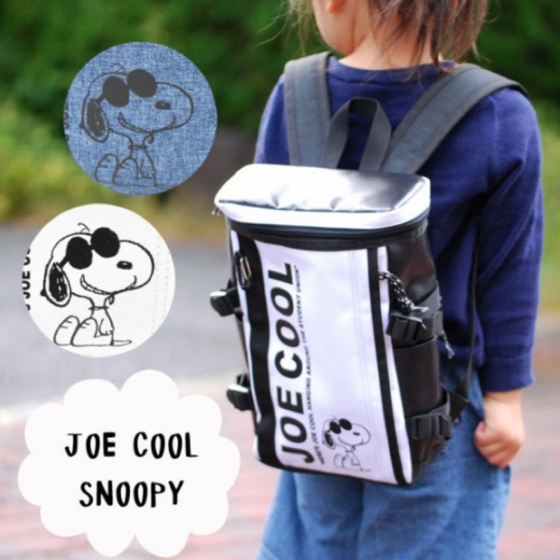 【日本直送】史努比SNOOPY大容量 刺繡後背包 書包 登山健行露營 後背包