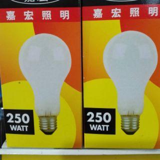現貨(嘉宏照明)磨砂燈泡250W/ 60W/ 40W/ 20W 高雄市