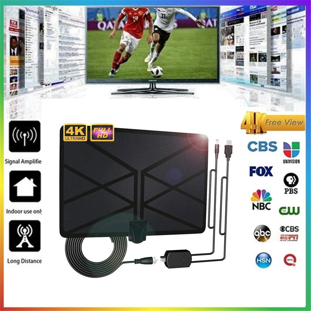 桑德最新電視天線室內放大數字高清電視天線960英里範圍,配備4K HD1080P DVB-T Freeview終身電視頻