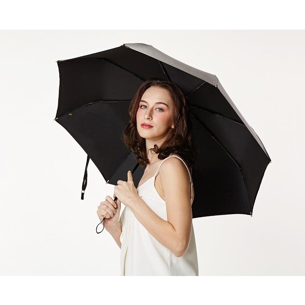 Banana 小黑傘   三折 晴雨傘 男女防曬防紫外線 遮陽傘 香蕉傘下 雨傘  -墨黑