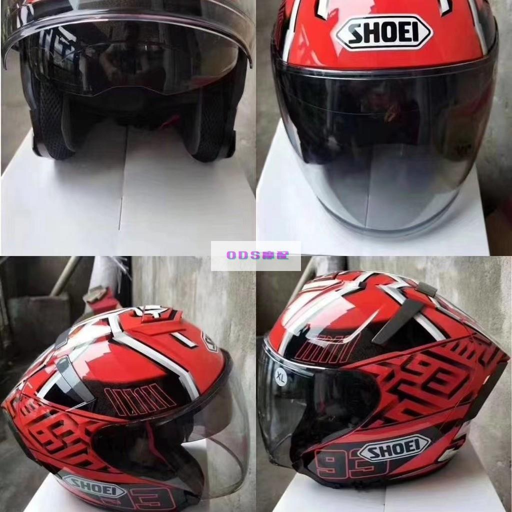 SHOEI X14 頭盔紅螞蟻白螞蟻、亮白、啞光黑 雙鏡片半盔安全帽 男女通用