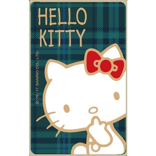全新限量Hello Kitty 格紋悠遊卡 紅綠各一
