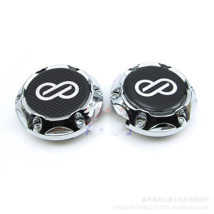 1個改裝ENKEI輪轂蓋 ENKEI輪蓋 汽車輪轂中心蓋OZ輪胎蓋 64MM