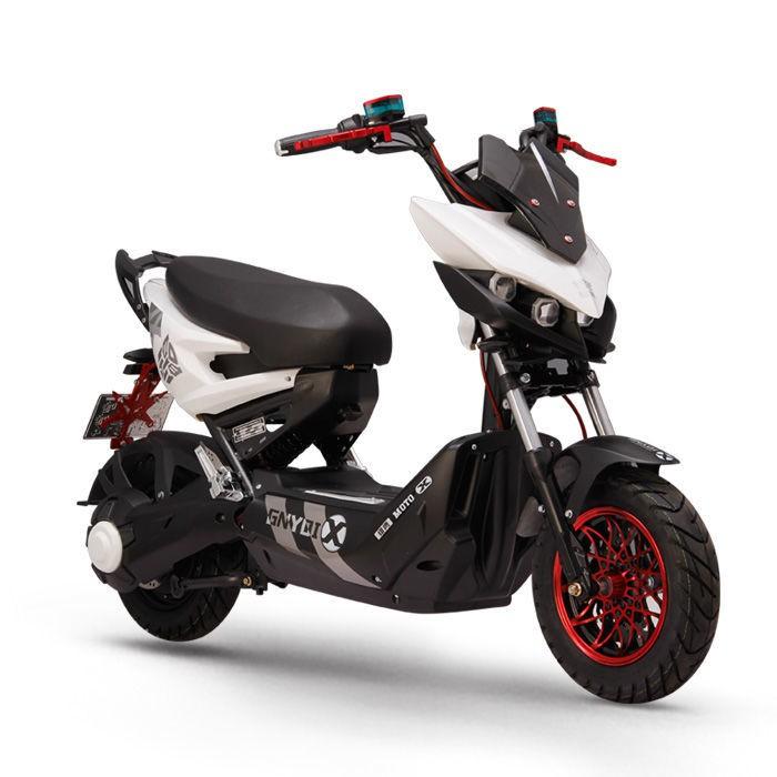 熱銷 新款極客電摩X戰電動車戰狼72V成人踏板電動摩托車改裝高速電摩