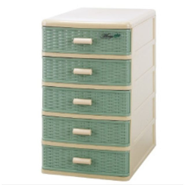 00495 藤木造型五層收納盒 27*19*31cm 隨機出貨不選色