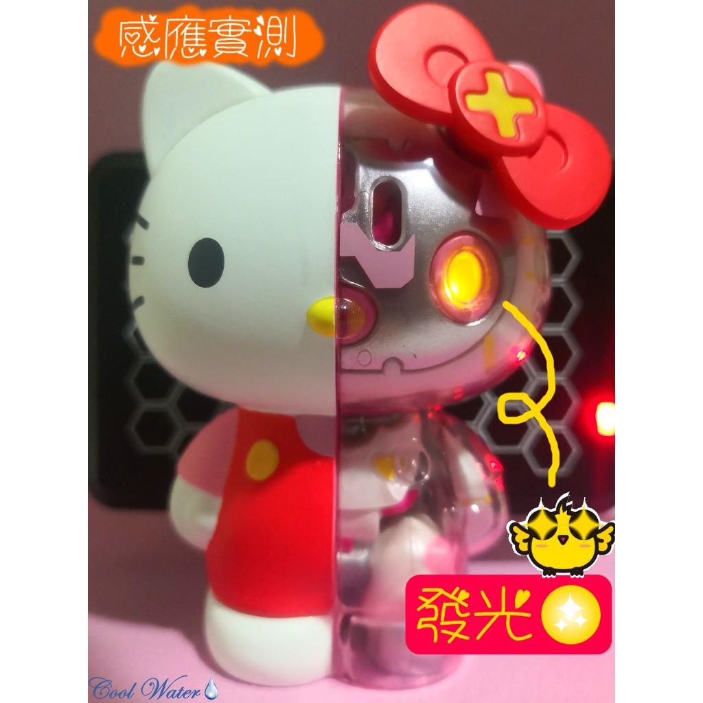 ✨Hello Kitty 半械凱蒂貓 半剖🔪 半機械 3D造型悠遊卡 會發光的悠遊卡 PinkPeal款
