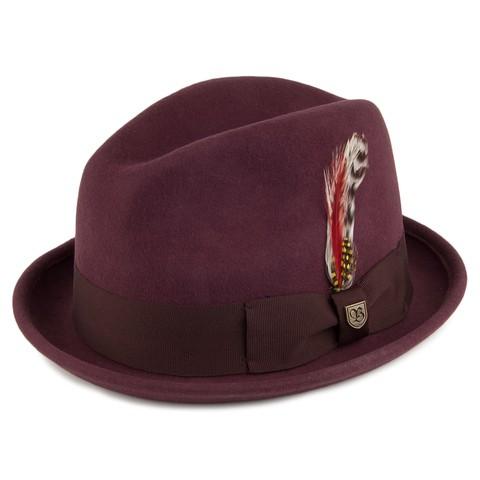 Brixton Gain Fedora 紳士帽 (酒紅)《Jimi Skate Shop》