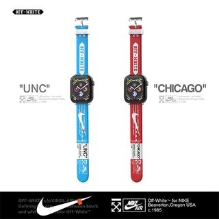 灰白色用於空氣錶殼 + Apple Watch 錶帶 42mm 38mm 44mm 40mm 運動矽膠腕帶手鍊,  適用於