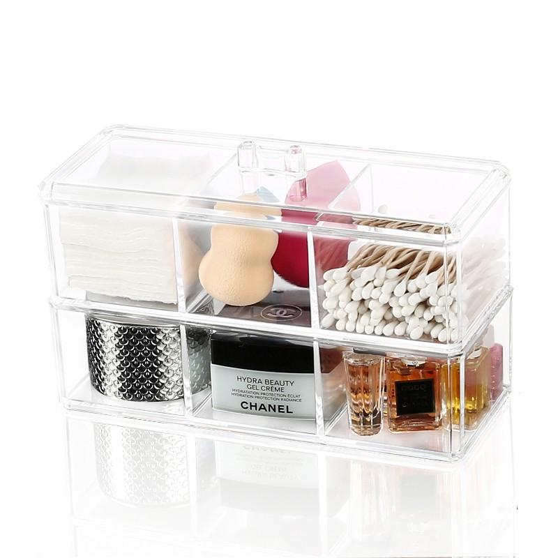 【wys】亞克力化妝棉收納盒棉簽盒簡約家用彩妝多功能化妝品收納盒整理盒