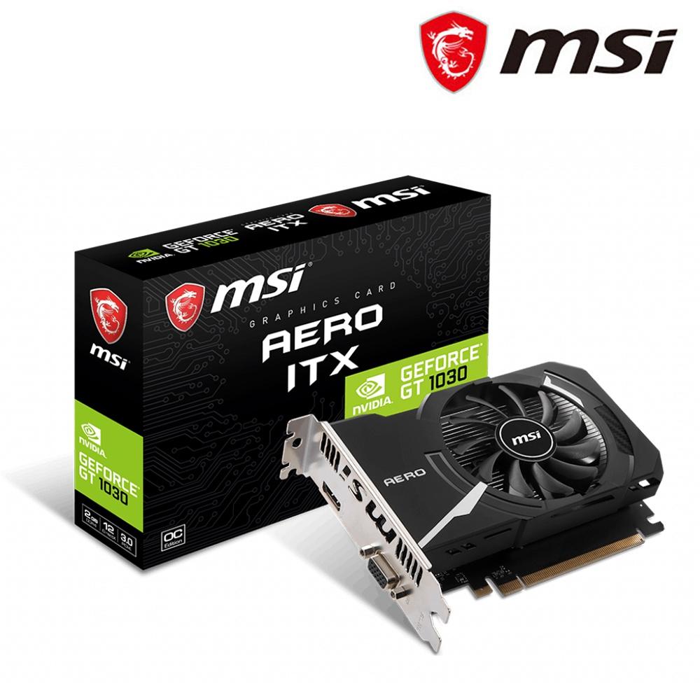 微星 GeForce GT 1030 AERO 2GD4 OCV1 顯示卡(內建類比輸出)